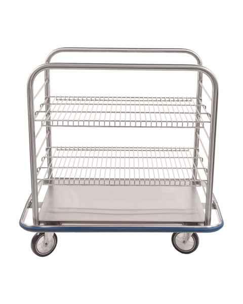 Blickman Stainless Steel Open Case Cart Model OCC4 - Wire Shelves