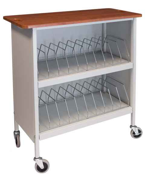 Artisan Vertical Cabinet Rack Cherry Top - 20 Capacity