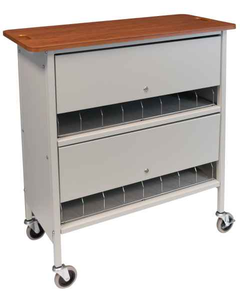 Artisan Vertical Privacy Rack Cherry Top - 16 Capacity