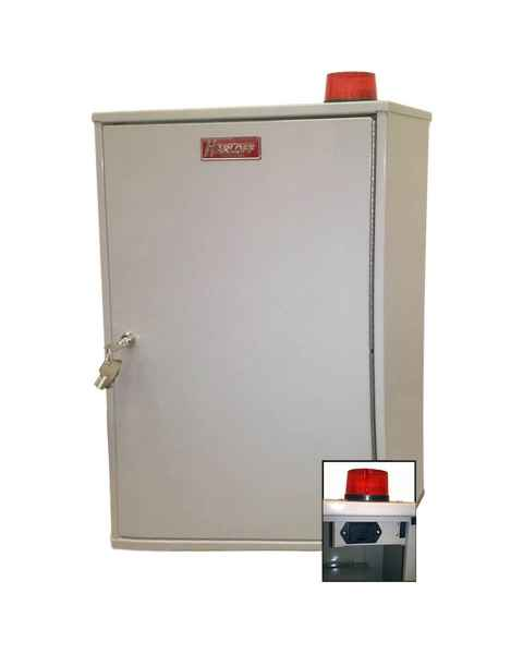 "Harloff 27AVD03 Audio/Visual Alarm Narcotics Cabinet, Double Door Double Lock, 26""H x 16""W x 8""D"