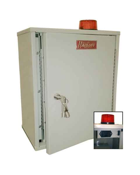 "Harloff 27AVD20 Audio/Visual Alarm Narcotics Cabinet, Double Door Double Lock, 18""H x 12""W x 8""D"