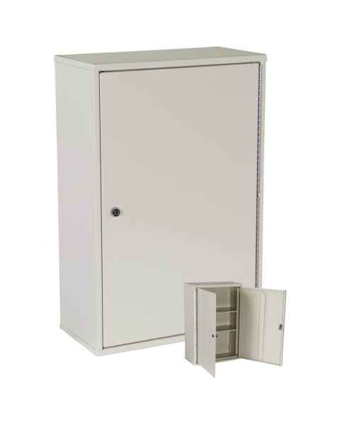 "Harloff 2803AQ Heavy Duty Narcotics Cabinet, Double Door Double Lock, Tall Profile 24""H x 16""W x 8""D"