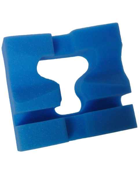 "Disposable Slotted Prone Head Foam Positioner - 8.5"" x 8"" x 4"" Thick"