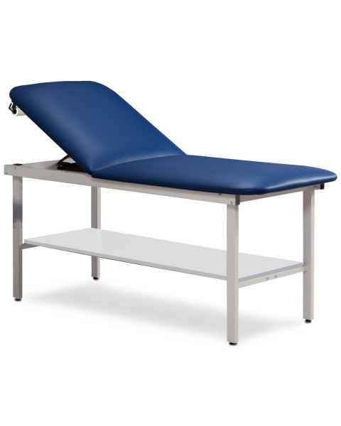 Clinton Model 3020 Alpha Series Treatment Table with Adjustable Backrest & Shelf