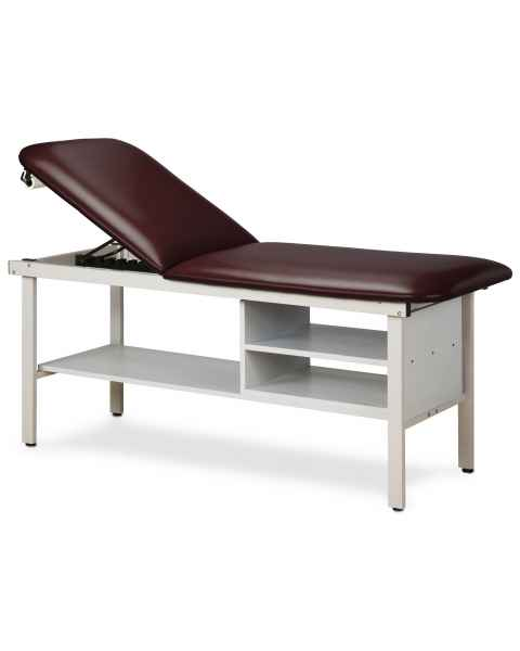 Clinton Model 3030 Alpha Series Treatment Table with Adjustable Backrest & Shelving
