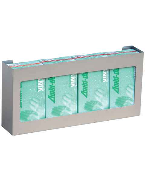 Omni Quadruple Stainless Steel Glove Box Holder