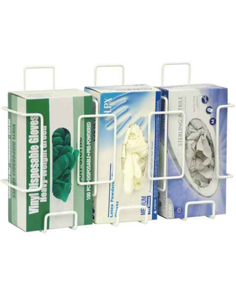 Deluxe Wire Glove Box Holder - Triple