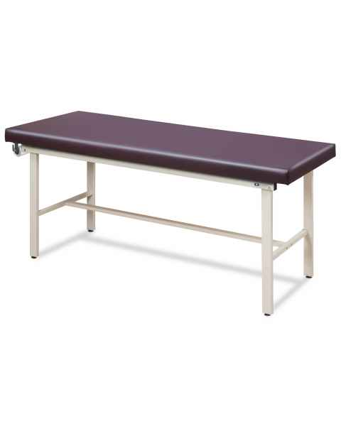 Clinton Model 3100 Flat Top Alpha-S Series Straight Line Treatment Table with H-Brace