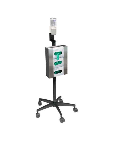 OmniMed 350351 Mobile Glove And Sanitizer Stand