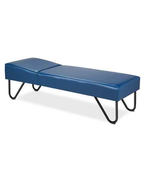 Clinton Model 3600 Recovery Couch with Black, Powder-Coated U-Legs