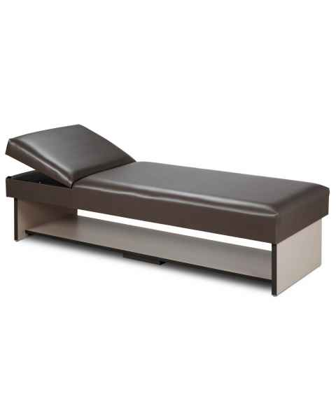 Clinton 3710-16 Panel Leg Recovery Couch with Full Shelf & Adjustable Pillow Wedge Headrest