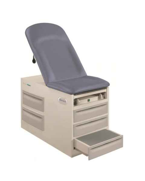 Basic Exam Table Model 4001 same as Model 4000 (shown), but with Drawer Heater & Pelvic Tilt