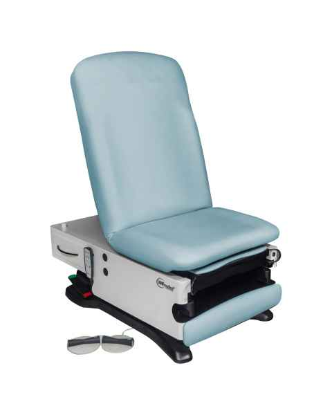 Model 4040-650-300 ProGlide300+ Power Exam Table with Power Hi-Lo, Power Back, WheelBase, Foot Control and Programmable Hand Control - Soft Linen