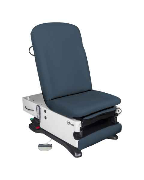 Model 4070-650-300 ProGlide300 Power Exam Table with Power Hi-Lo, Manual Back, WheelBase, Foot Control and Programmable Hand Control - Twilight Blue