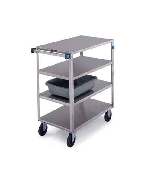 Lakeside SS Medium Duty Multi-Shelf Carts - All Edges Down - Perimeter Bumper (4 and 8-Shelf)