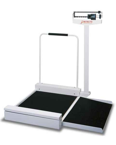 Mechanical Stationary Wheelchair Scale with Non-Skid Platform and Ramp