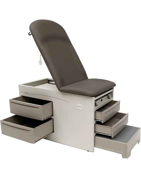 Brewer Access Exam Table with Pneumatic Back, Drawer Heater, Pelvic Tilt, No Electrical Outlet
