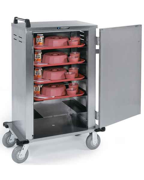 Lakeside Stainless Steel Elite Enclosed Room Service/Late Tray Delivery Cart