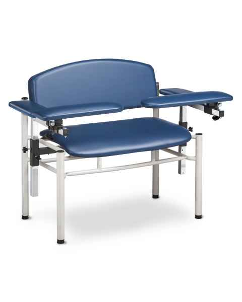 Clinton Model 6006-U SC Series Extra-Wide Padded Blood Drawing Chair with Padded Flip Arms