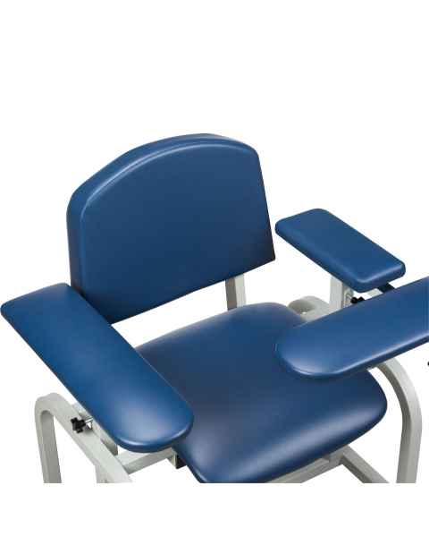 Arm Option - Upholstered Padded Stationary Armrests and Straight Flip Arm
