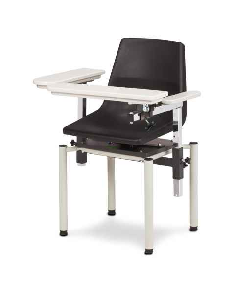 Clinton Model 6040-P SC Series E-Z Clean Blood Drawing Chair with ClintonClean Arms