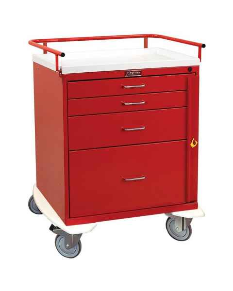 Harloff 6300 Classic Line 4 Drawer Emergency Cart Breakaway Lock