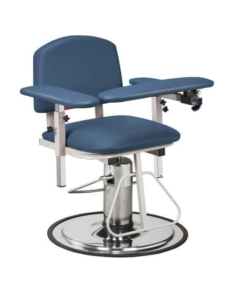Clinton 6310 H Series Padded Blood Drawing Chair with Padded Arms