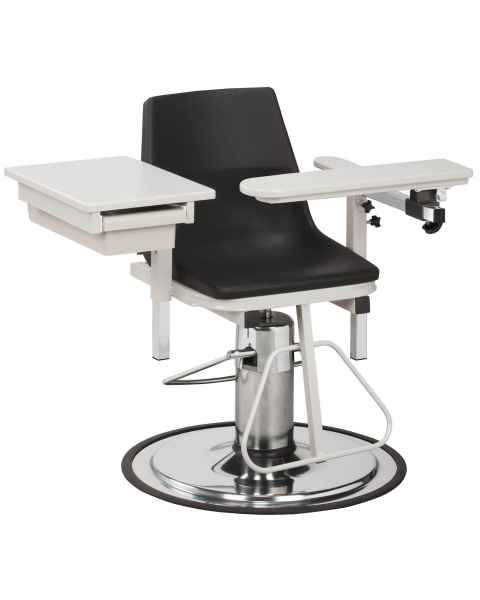 Clinton 6340-P H Series E-Z-Clean Blood Drawing Chair with ClintonClean Flip Arm and Drawer
