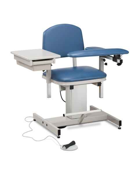 Power Series Blood Drawing Chair with Padded Flip Arm and Drawer