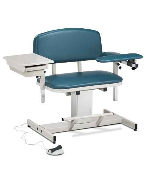 Clinton Power Series Extra Wide Blood Drawing Chair with Padded Flip Arm and Drawer Model 6352