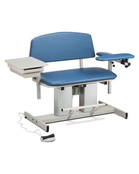 Power Series Bariatric Blood Drawing Chair with Padded Flip Arm and Drawer
