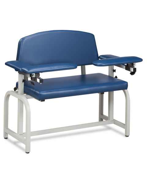 Lab X Series Extra-Wide Blood Drawing Chair with Padded Arms