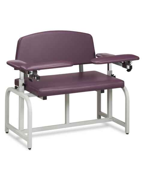 Lab X Series Bariatric Blood Drawing Chair with Padded Arms