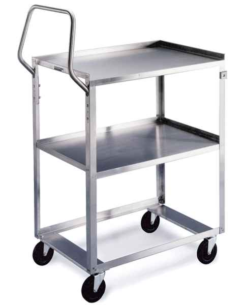 Lakeside Ergo-One Stainless Steel Utility Carts - 300 lbs Capacity