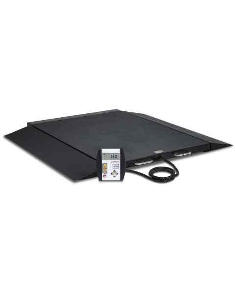 Detecto 6600 Portable Bariatric Digital Wheelchair Scale with Model 750 Indicator