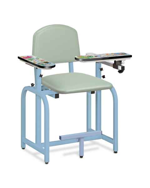 Pediatric Series Aquarium Blood Drawing Chair with Flip Arm and Right Armrest