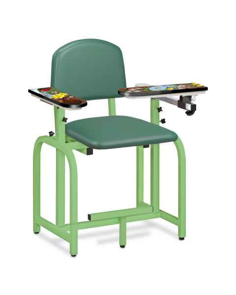 Pediatric Series Spring Garden Blood Drawing Chair with Flip Arm and Right Armrest