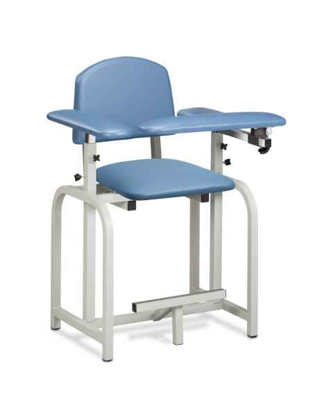 Clinton Lab X series Extra-Tall Blood Drawing Chair with Padded Arms Model 66011 - Wedgewood