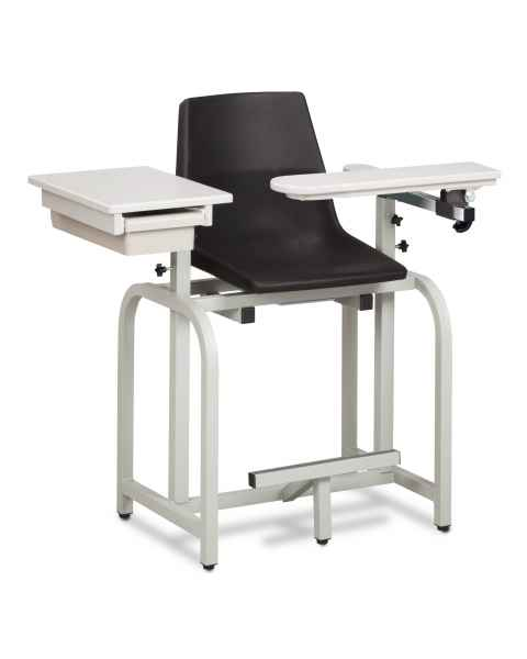 Standard Lab Series Extra-Tall Blood Drawing Chair with Drawer and Flip-Arm