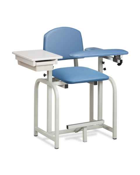 Lab X Series Extra-Tall Blood Drawing Chair with Padded Flip Arm and Drawer