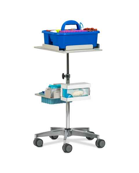 Clinton 67021 Phlebotomy Store & Go Cart (Tray pictured on top and all supplies shown not included)