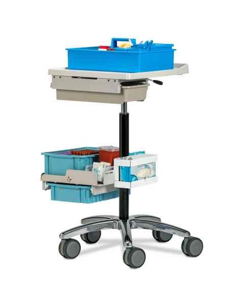 Clinton 67022 Phlebotomy Store & Go Cart (Tray pictured on top and all supplies shown not included)