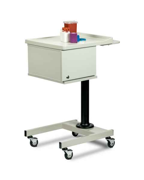 Clinton 67202 Small H-Base Pneumatic Phlebotomy Cart with Two-Bin