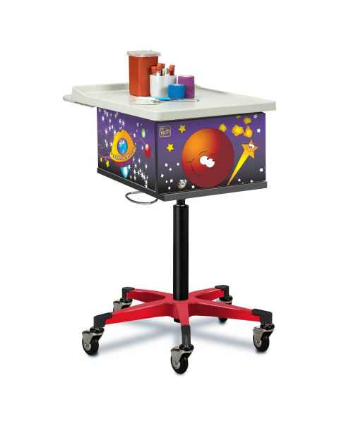 Clinton 67235 Pediatric Phlebotomy Cart - Space Place Graphics