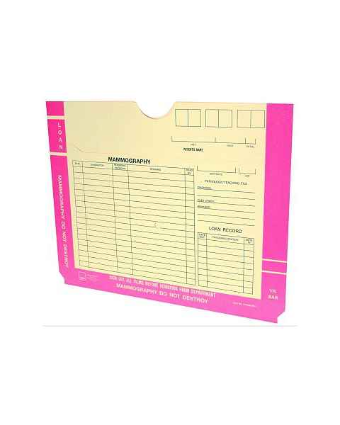Mammography File Jacket - Pink Border
