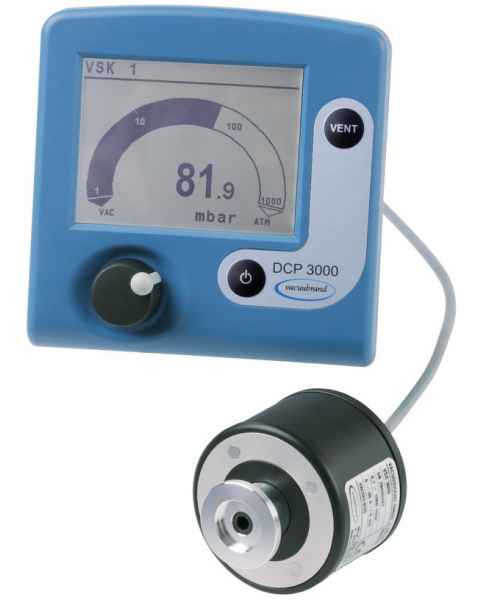 BrandTech VACUUBRAND DCP3000 Absolute Pressure Vacuum Gauge with VSK3000 External Sensor 100-230V 50-60Hz