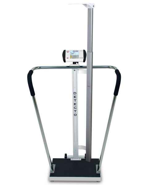 "Bariatric Digital Scale with Digital Height Rod - 600 lb Capacity - 18"" x 14"" Platform"