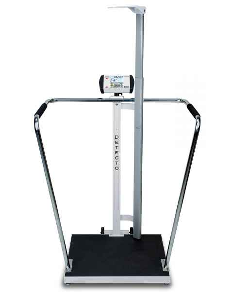 "Bariatric Digital Scale with Digital Height Rod - 1000 lb Capacity - 24"" x 24"" Platform"