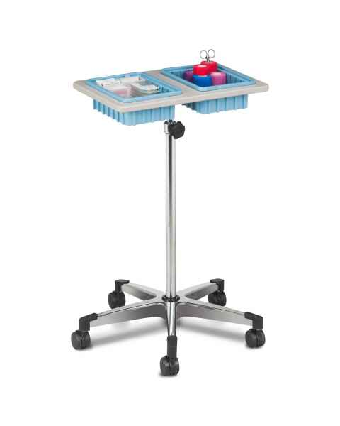 Clinton 6902 Mobile Phlebotomy Stand with Two-Bin