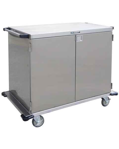 "Lakeside Two Door Stainless Steel Case Carts - 36"" Width Wire Shelf"